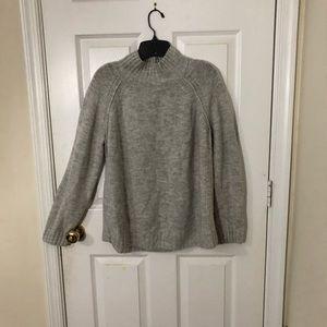 Jones New York soft light gray mock neck sweater
